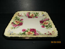 "Robert Gordon ""Yellow Roses""Square Cake Servering Plate/Tray..Display Piece"