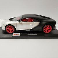 Maisto Bugatti Chiron 1:18 Special Edition Diecast Car- Black / White