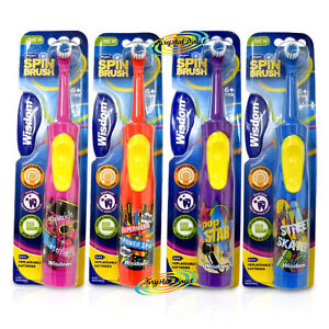 Wisdom Electric Kids Toothbrush with Spin Brush Whitening BATTERY 6+years
