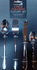 MASTERCLASS by Kitchen Craft Children's CUTLERY SET CHILD Cutlery 4 pc EASY GRIP