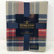 NIP Pendleton Vintage Dress Stewart Plaid Throw Blanket 50 x 70 Blue Red Brown