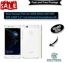 "New Huawei P10 Lite 32GB White WIFI NFC GPS 12MP 5.2"" Lcd Unlocked Smartphone UK"