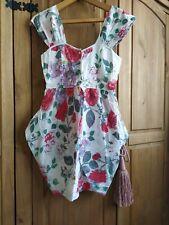 ASOS White Floral Dress Size 10UK