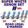 Pour Peugeot 206 Double Phares 1998-ON Set H1 H7 H7 501 Halogène Ampoules