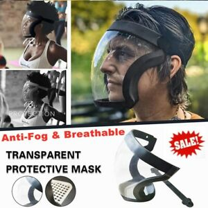 Safety Full Face Shield Reusable Transparent Clear Washable Mask Anti-Splash NEW