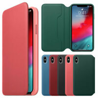 For Apple iPhone XS MAX XR New Luxury Leather Folio Flip Wallet Phone Case Cover