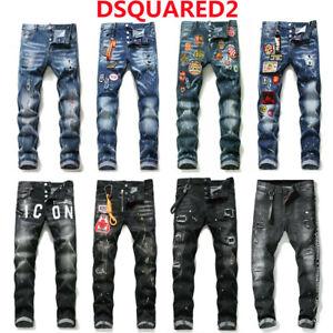Dsquared2 Jeanshose Herren Jeans Denim Hose Trousers ICON Jeans Kurzgröße Skinny