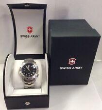 Victorinox Swiss Army Quartz Men's V7-20x Sub-Racer Black Dial Watch Clean
