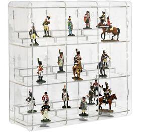 SORA Vetrinetta Per Statuine da Collezione con Piedistallo, Retro: Trasparente