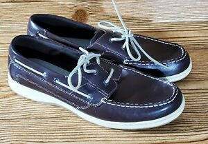 Clarks 37520 Men's Brown Leather 2-Eye Casual Boat Shoes Size 11 M