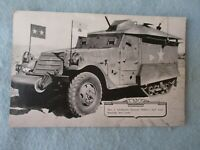 WWII US Army Picture General Patton Half Track 1st Armor 2 Star Pennant WW2