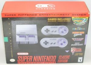 Super Nintendo SNES CLASSIC EDITION Sealed NEW Earthbound MARIO Zelda Starfox DK