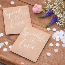 """Ginger Ray """"Sprinkle the Love"""" White Wedding Confetti in Packet"""