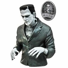 Universal Monsters Frankenstein Black-and-White Bust Bank