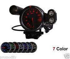 "Defi style Tacho  5""  80mm 7 Colour Rev Counter Racing Gauge Tachometer"
