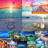 5D Diamond Painting Embroidery Cross Craft Stitch Arts Kit Mural Decor Seaside