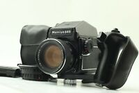 【N MINT】  Mamiya M645 1000S Sekor C 80mm f/1.9 PD prism finder Grip Japan #500