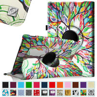 """Fire HD 10 2015 Amazon Kindle 10"""" 360 Swivel Rotating Leather Case Stand Cover"""