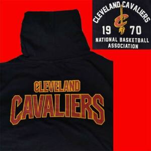 """LIMITED OFFICIAL NBA CLEVELAND CAVALIERS """"CAVS 1970"""" HOODED T-SHIRT TEE XL"""