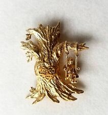 Heavy 14K Solid Yellow Gold Tree Movable Swings Brooch Pin Pendant 13.7 Gr.