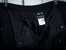 """Adidas Large Black Lightweight Poly Rain Over Pants 36-38"""" by 32"""""""