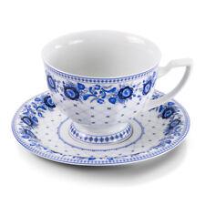 Porzellan Teetasse mit Untertasse Kaiserlich Design Gzhel Kaffeebecher Geschirr