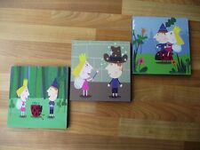 BEN AND HOLLY'S LITTLE KINGDOM CANVAS WALL ART PLAQUES/PICTURES SET-FREE POSTAGE