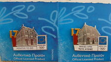 SET OF 2 PINS COUNTDOWN 17 MONTHS TO GO LOGGIA HERAKLION-ATHENS 2004 OLYMPIC PIN
