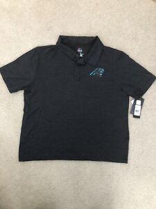 Carolina Panthers NFL Team Apparel Men's Polo Shirt - Size XL - NWT - Black