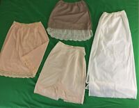 Lot Of 4 Vintage Lace Half Slips Nylon Small - Vassarette Beverly Vogue Olga