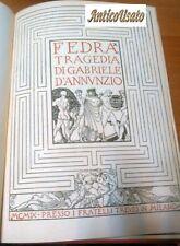 FEDRA di Gabriele D'Annunzio 1909 PRIMA EDIZIONE I Treves illustrato DE CAROLIS