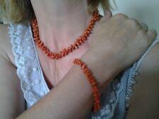 Nice Red Branch Coral Necklace & Bracelet