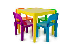 Kids Table Chair Set Children Child 4 Chairs Furniture Toddler Activity Toddler
