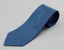 "Louis Vuitton Paris NWT Blue Monogram Textured Classic Tie Silk Cotton 3 1/2"""