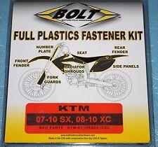 kit visserie de plastiques BOLT KTM SX XC XC-W  125 144 150 250 300 450
