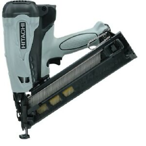 "Hitachi NT65GA P9 KIT 2-1/2"" 15 ga Gas Angled Finish DA Nailer, NEW w/warranty"