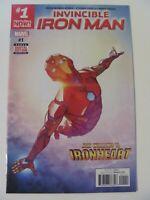 Invincible Iron Man #1 Marvel 2017 Series Riri Williams Ironheart 9.6 Near Mint+