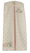 Vintage Handmade Fabric Hanging Cloth Diaper Stacker Holder-Embroidered Puppies