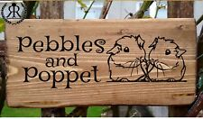 GUINEA PIG NAME PLATE PLAQUE SIGN PET INDOOR OR OUTDOOR CAGE HUTCH DEN CUTE GIFT