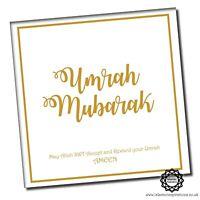 Umrah Mubarak Pink Flowers Greeting Cards 150 x 150mm UMR004