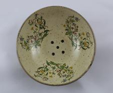 Antigua escurridera de ceramica, escurridor antiguo.  21cm Ø