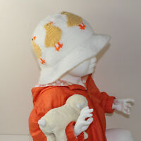 PRINTED KNITTING INSTRUCTIONS-BABY & CHILD EASTER CHICK SUN HAT KNITTING PATTERN