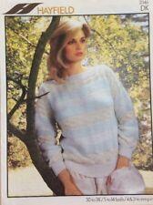 "Vintage Hayfield Ladies Striped Sweater DK KNITTING PATTERN 2046 - 30-38"""