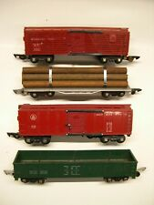 Lot of 4 American Flyer Link Coupler Freight Cars [Lot 9-F18]