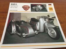Fiche moto collection atlas motorcycle Maico 250 maïcoletta side steib 1955