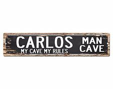 SPMC0081 CARLOS MAN CAVE Rules Street Chic Sign Home man cave Decor Gift