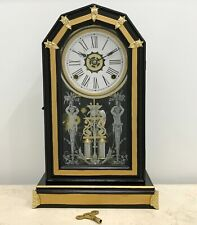 RESTORED Antique Ansonia Cathedral Mantel Clock #1706