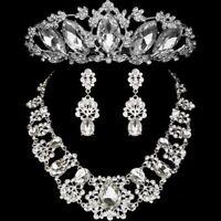 Wedding Jewelry Set Bridal Earrings Necklace Fashion Crystal Pendants Rhinestone