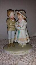 vintage girl and boy figurine Holly Hobbie figurine old figurine of girl boy