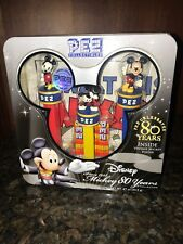 New Pez Dispenser Mickey Mouse 2007 Limited Edition Disney 80 Years Tin Sealed